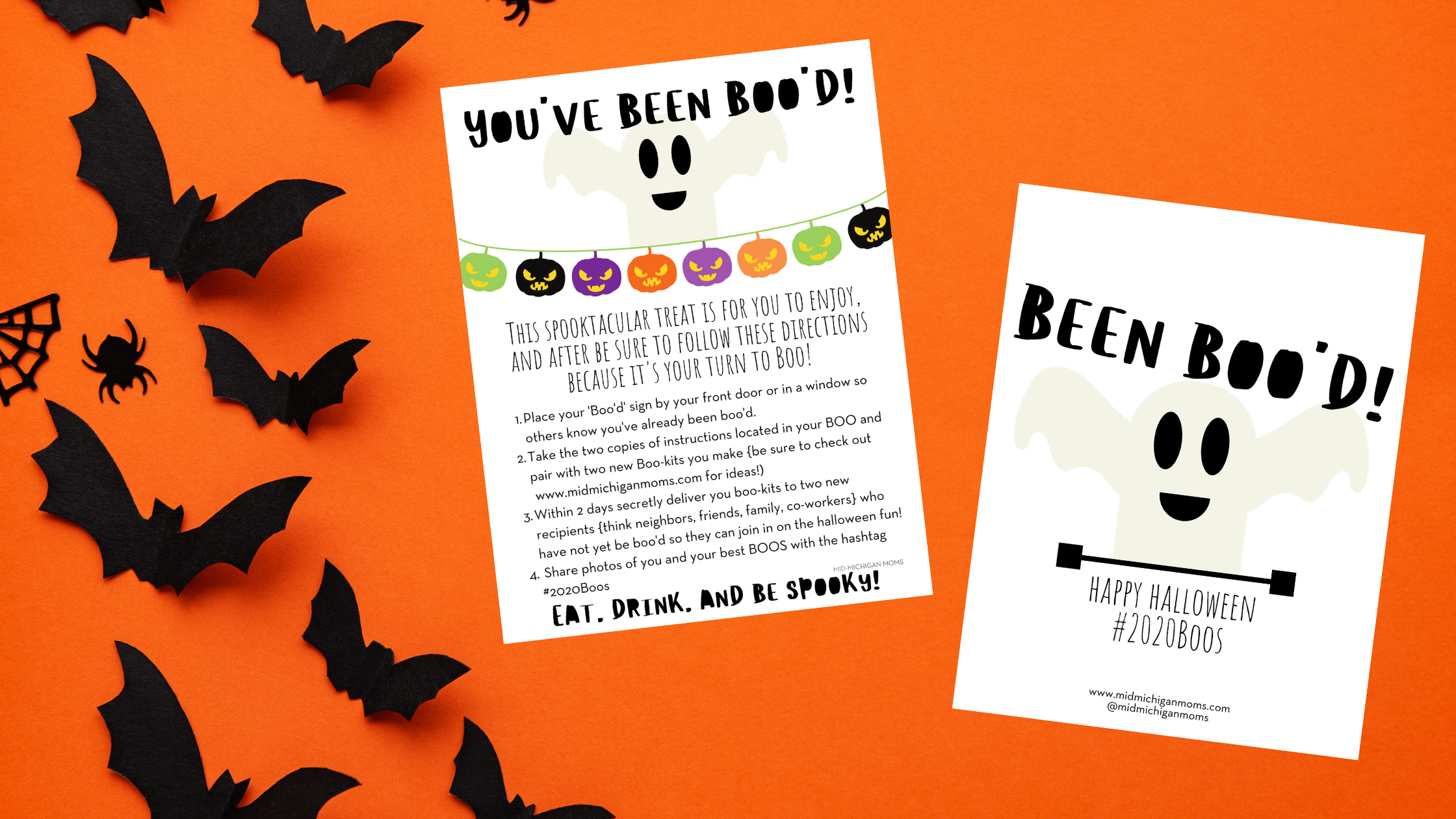 boo'd sign and instructions